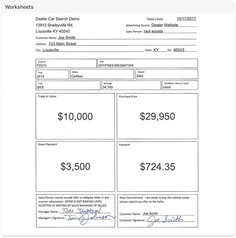 Car Dealer Worksheet The Best And Most Comprehensive Worksheets Car Sales Worksheet Template