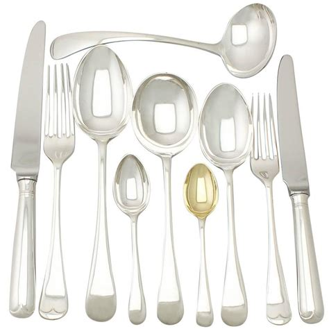 six cutlery sterling silver canteen of cutlery for six persons
