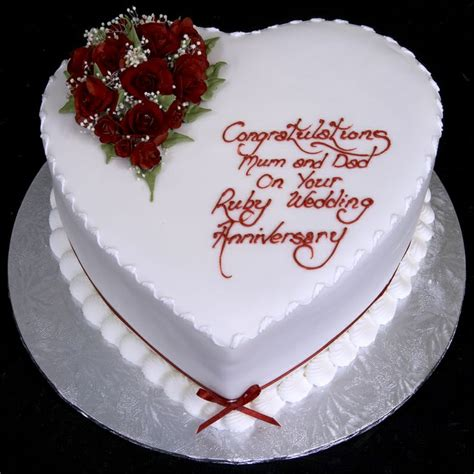 Ruby Wedding Anniversary Ideas Usually by 25 Best Ruby Wedding Cake Ideas On