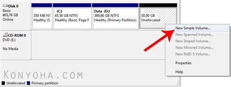 format hardisk baru di windows 7 cara mudah membuat partisi baru di harddisk komputer windows