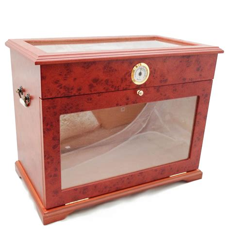 cabinet humidor for sale 400 ct cigar humidor display cabinet end table case burlwood