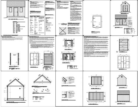 wood shed plans 10x10 house design and decorating ideas