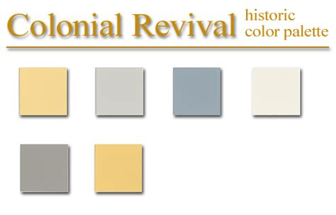 colonial colors historic color palette colonial revival style artsparx