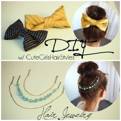 Pita Rambut Sepasang Hairbow Hjr107 ide membuat aksesoris rambut jepit pita dari dasi pria dan kalung untuk rambut yang elegan