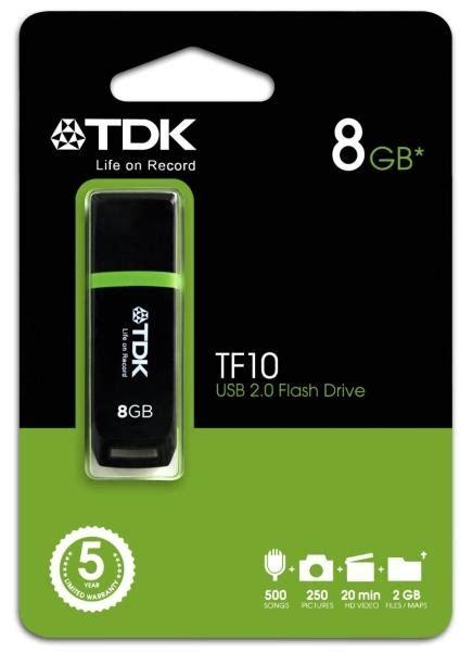 Usb2 0 Flash Drive 8gb Black tdk tf10 8gb usb2 0 flash drive black usb per
