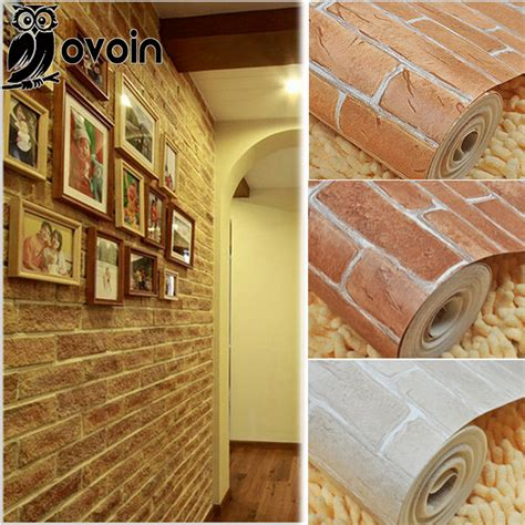 thick wallpaper aliexpress buy modern 3d brick off white aliexpress com buy thick heavy vinyl wall paper rustic