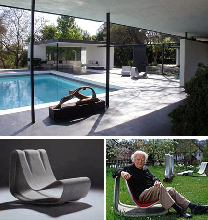 Willy Guhl: Loop Chair Modern Concrete Outdoor Garden