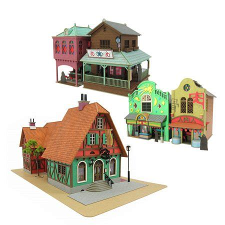 Ghibli Papercraft - top 10 papercraft anime houses from studio ghibli