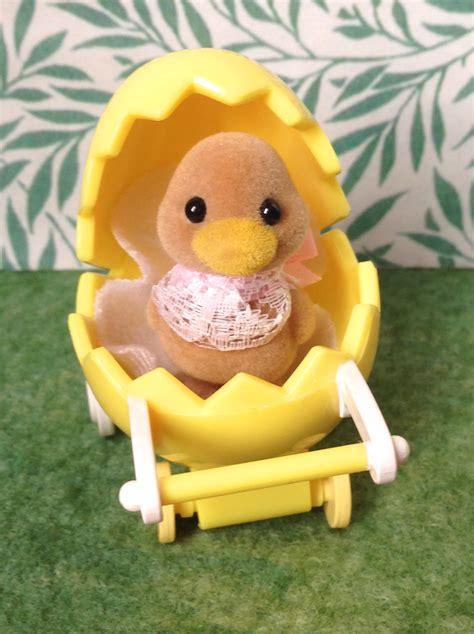 Yellow Kids Bathroom - teddy bears amp friends sylvanian families waddlington duck duckling baby in yellow egg