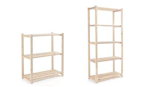 scaffali in legno grezzo 187 scaffale in legno abete in kit prezzo