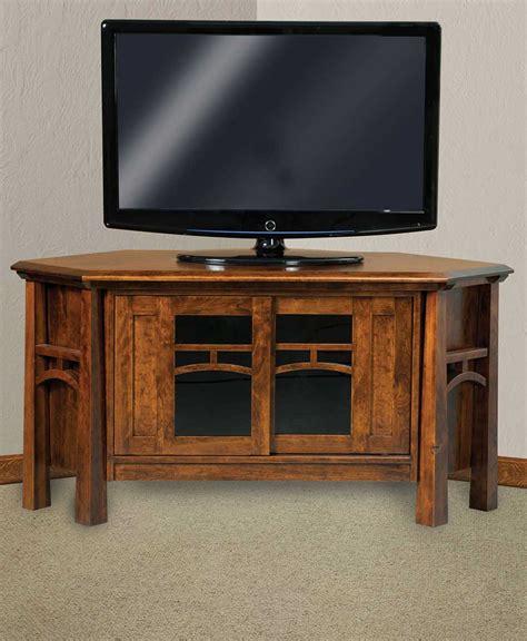 corner console artesa corner media console amish direct furniture