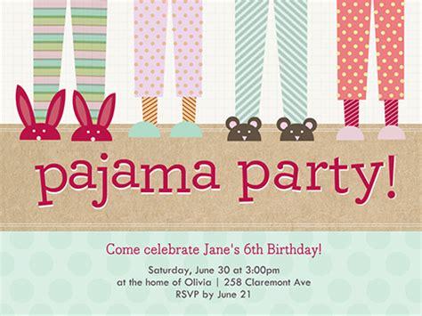 pajama party invitations reduxsquad com