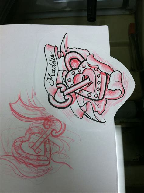 locked heart tattoo designs memorial lock and roses design 187 ideas
