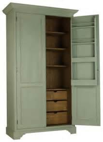 Free standing kitchen larder alexander interiors designer fabric