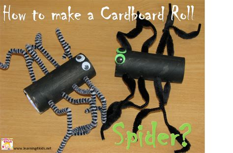 How To Make A Paper Spider - how to make a cardboard roll spider learning 4