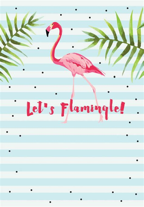 Let S Flamingle Free Printable Bridal Shower Invitation Template Greetings Island Parties Flamingo Invitation Template Free
