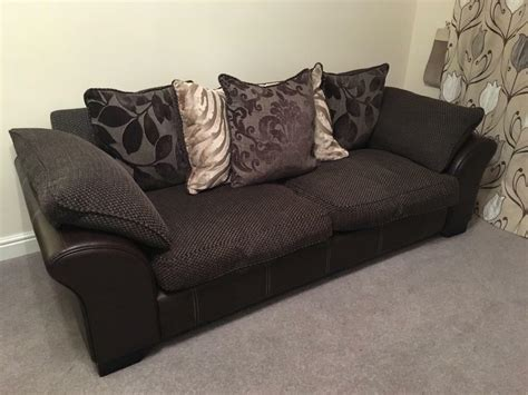 Dfs Sofa Collection by Dfs Martina Sofa Set Brown Leather Fabric 4 Seater 2 3