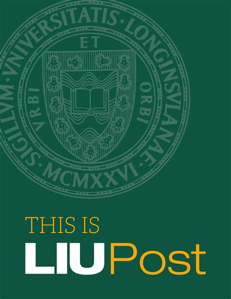 Liu Post 5 Year Mba by Liu Post Viewbook By Liu Publications Issuu