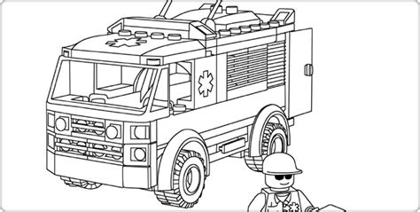 lego ambulance coloring pages free lego coloring pages lego pinterest lego