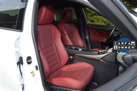lexus    sport red interior stock
