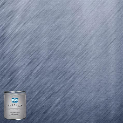metallic wall paint ppg metallic tones 1 qt mtl113 abundant blue metallic