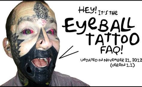 the eyeball tattoo faq bme tattoo piercing and body