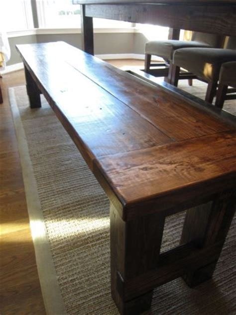 how to build a kitchen table bench pinterest