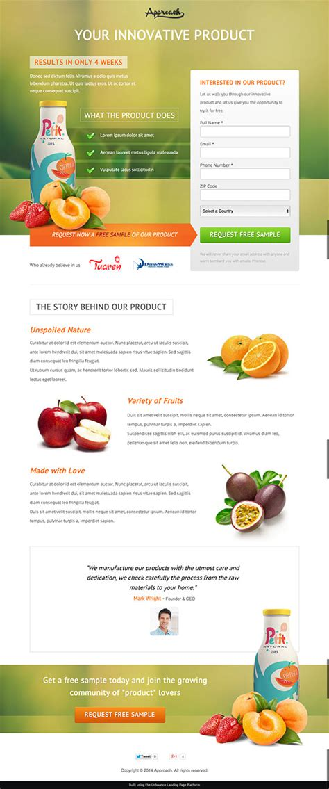 12 Beautiful Landing Page Templates Designed Just For You Product Page Design Template