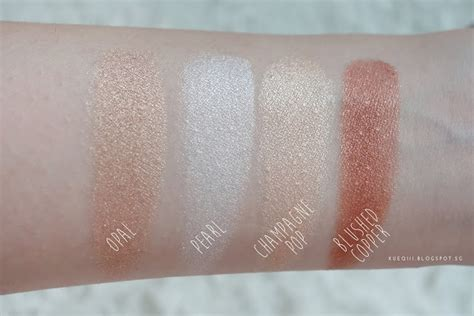 Becca Highliter Shade Pearl becca shimmering skin perfector pressed in opal review and swatches xueqi s episode