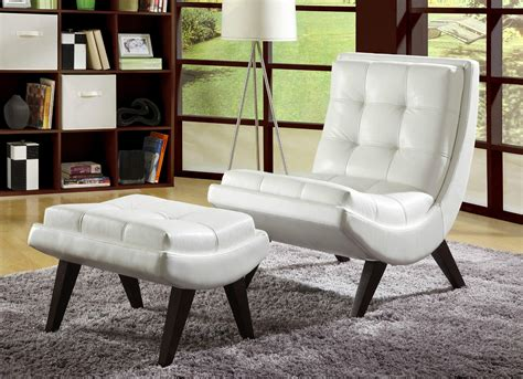 modern accent chair and ottoman 37 white modern accent chairs for the living room