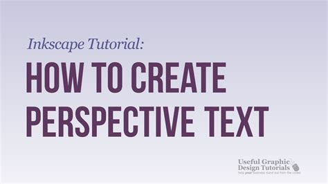 tutorial inkscape font how to create perspective text using inkscape inkscape
