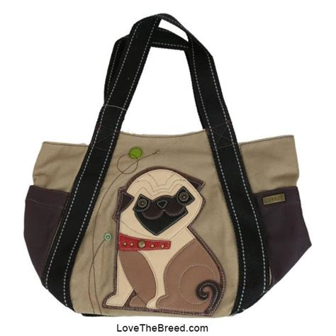 pug bag pug carryall bag lovethebreed