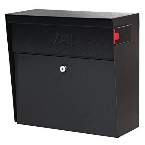 wall mounted locking mail boss metro locking wall mount mailbox with high