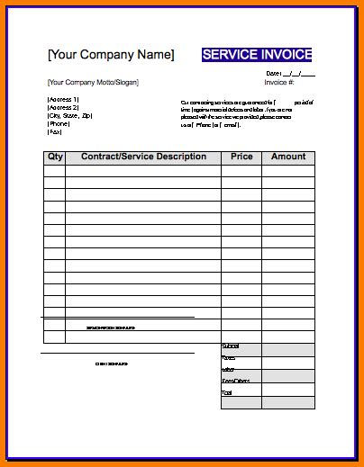 Sle Contractor Invoice Template Hardhost Info Free Printable Construction Invoice Template