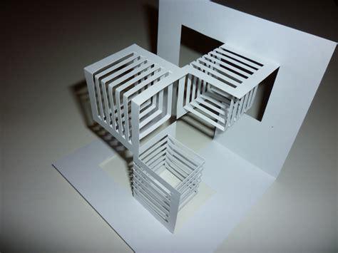 Kirigami Origami - kirigami 1 ejercicio de kirigami en cartulina blanca el
