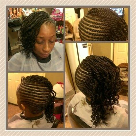 hairstyles left down side cornrows with single marley twist could be left