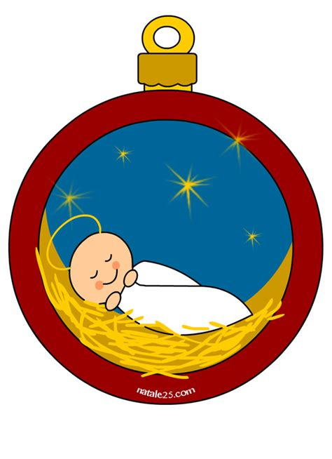 clipart natalizi pallina di natale con ges 249 bambino natale25