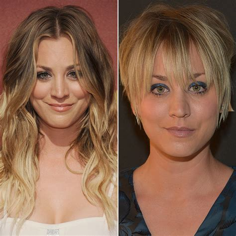 why did caily cuoco cut her hair celebrities who cut their hair short hairstyle pictures
