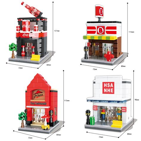 Sale Lego Sembo 6500 6501 6502 6503 Mini City Free Lu Led popular shopping stores buy cheap shopping stores lots from china shopping stores