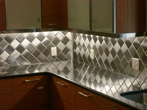 4 quot x 4 quot brushed stainless steel metal tiles backsplash