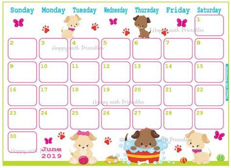 calendar june  cute summer planner printable cute etsy