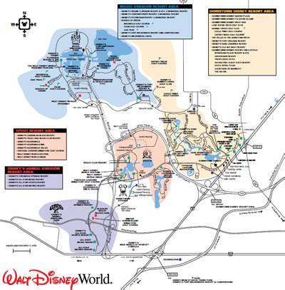walt disney world map pdf