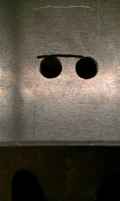 cutting rectangular notches  aluminum plate  cnc