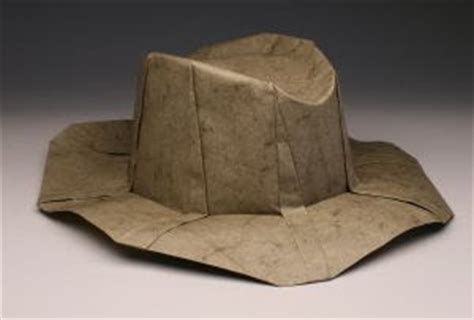 How To Make A Fedora Out Of Paper - indiana jones origami size fedora