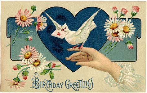 printable birthday cards vintage vintage birthday illustration the graphics fairy