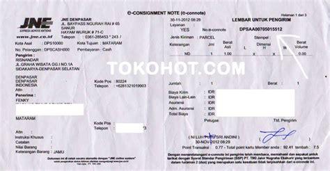 cek resi pos laju tracking nomor bukti resi pengiriman jne dan pos november 2012