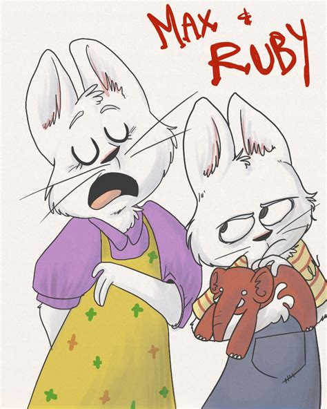 max and ruby painting hey its max and ruby by failtaco on deviantart