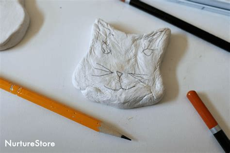sketchbook cat air purrfectly cat craft using air drying clay nurturestore