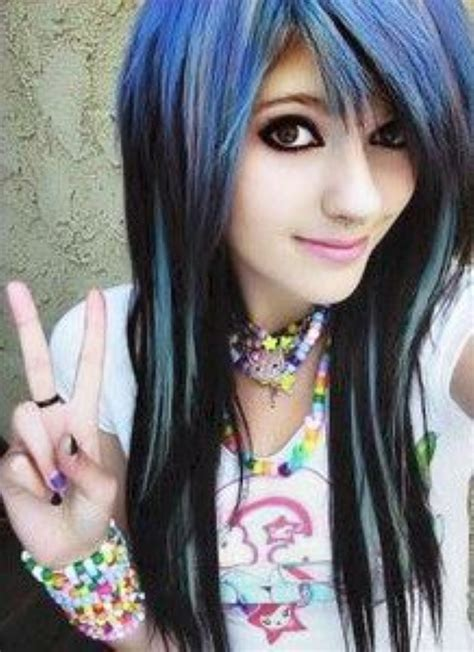emo rock hairstyles cute emo girls with long hair style 9 hairzstyle com