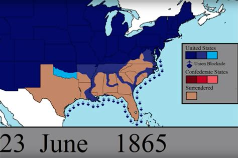 map usa union confederate animated map lets you the unfolding of every day of